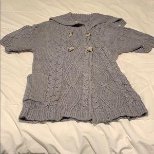 [sfera] cozy short sleeved chunky sweater, size L
